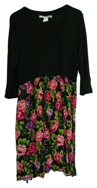Necessary Objects short dress Black/Floral Plus-size on Tradesy