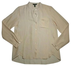 Eileen Fisher Casual Office Lightweight Silk Button Down Shirt Peach