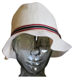 Gucci GUCCI Womens Large Sun Summer Paper Straw Designer Web Fedora Trilby Hat