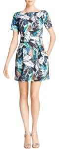 French Connection Wings Leaves Short Sleeve Dress