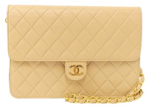 Chanel Lambskin Push Lock Shoulder Bag