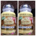"Other "" VANILLA CUPCAKE"" SET OF 2- NEW YANKEE CANDLE LARGE JARS 22OZ"