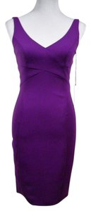 Jay Godfrey Sleeveless Scoop Back V-neck Sheath Date Night Dress