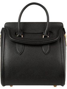 Alexander McQueen Luxury Premium Italian Leather Suede Tote in Black