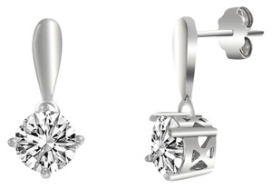Other ** NWT ** 2.00 CT SOLITARE SLINGBACK EARRINGS