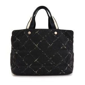 Chanel Quilted Print Line Tote in Black