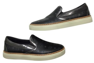 MCM Visetos Slip On Sneaker Black Flats
