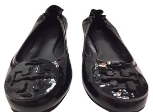 Tory Burch Reva Patent Leather Reva Black Flats