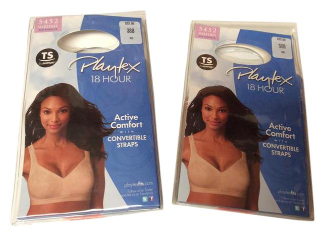 Item - Nude 2 Pkg New 18 Hour Active Comfort Convertible Straps #5452 Activewear Sports Bra Size 16 (XL, Plus 0x)