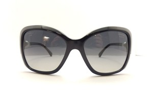 Chanel Chanel Black Square Pearl Sunglasses CURRENT Retail