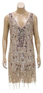 Roberto Cavalli short dress Beige/Multicolor on Tradesy
