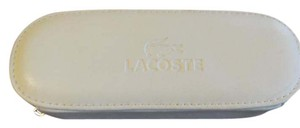 Lacoste Lacoste White Sunglasses case with green zipper