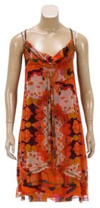 Diane von Furstenberg short dress Orange/Multicolor on Tradesy