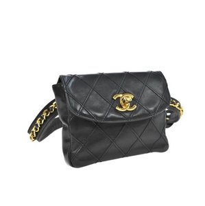 Chanel Quilted Lambskin Front Flap Chain Waist Pouch