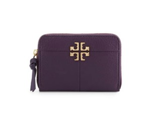 Tory Burch NWT TORY BURCH IVY ZIP COIN CASE BAG CLUTCH NIGHT SHADE LEATHER WALLET