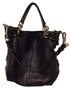 Coach Hobo Leather Satchel in Black