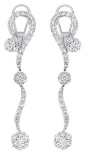 Other 2.31 CT Natural Diamond Dangle Drop Fancy Earrings in Solid 18k White