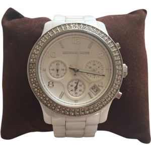 Michael Kors Ceramic Glitz Women Wrist Watch