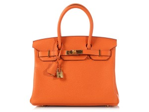 Hermès Hr.k1102.07 Clemence Leather Gold Ghw Satchel