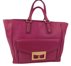 Marc by Marc Jacobs Leather Hayley Bianca Hayley Zipper Tote in Violet Pink