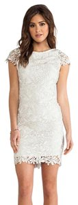Alice + Olivia + White Lace Lace Lace Open Back Dress
