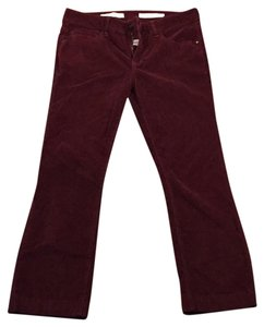 Anthropologie Straight Pants oxblood