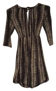 Tracy Reese short dress black/beige on Tradesy