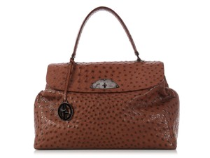 f533a4e0874 Giorgio Armani Turnlock Slouchy Ga.k1123.13 Doctor Flap Satchel in Brown. Giorgio  Armani  sold On Ebay giorgio Brown Ostrich Leather Satchel