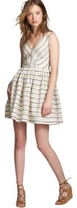 J.Crew short dress white Striped on Tradesy