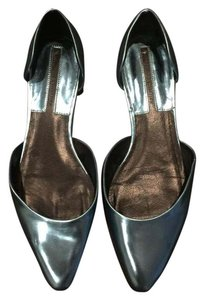 Zara Street Style Stylish Metallic Blue Flats