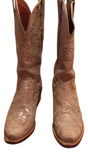 1883 Lucchese Gold silver beige Boots
