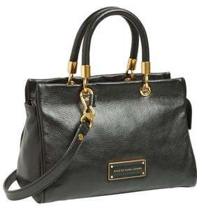Marc by Marc Jacobs Leather Top Handle Satchel in Black