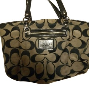 "Coach Tote in Gray with big black coach ""C's"""