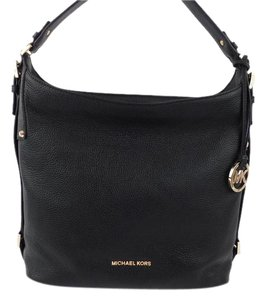 Michael Kors Mk Tote Black Leather Bedford Shoulder Bag