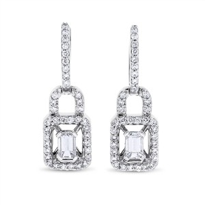 Other 1.11 CT Natural Diamond Handbag Style Drop Earrings in Solid 18k White