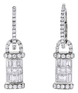 Other 1.25 CT Natural Diamond Fashion Drop Earrings in Solid 18k White Gold