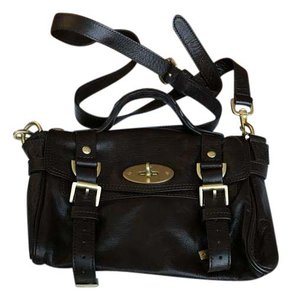 Mulberry Leather Satchel in Chocolate