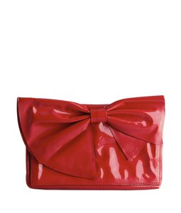 Valentino Bow Red Clutch