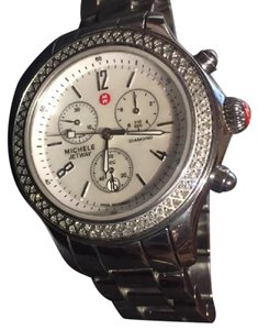 Michele Michele Jetway Mother Of Pearl Diamond Benzel Watch MWW17A000001