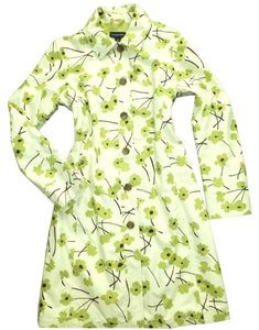 Lands' End Floral Rain Trench Raincoat