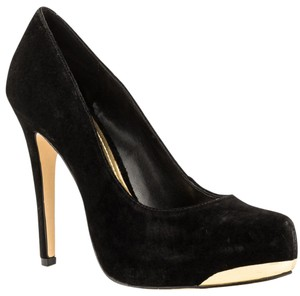 BCBGeneration Stiletto Sexy Black/Gold Platforms