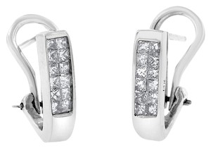 Other 0.50 CT Natural Diamond Princess Cut Invisible Set Earrings Solid 14k