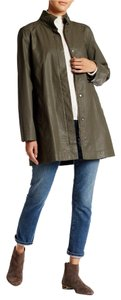 Eileen Fisher Back Pleat Two Surplus Green Jacket