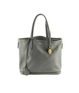 Alexander McQueen Leather Tote in Grey