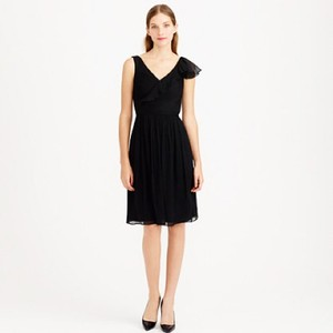 J.Crew Black Serena Dress Dress