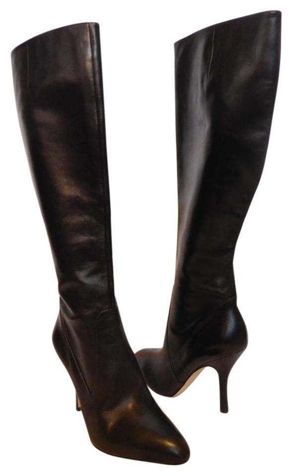 Via Spiga Leather Brown New Piper Leather Spiga Knee High Boots/Booties b3dbfe