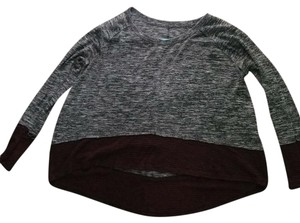 Free People T Shirt black and red with grey bodice