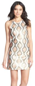 Dress the Population Sequin Mini Iridescent Fashion Dress