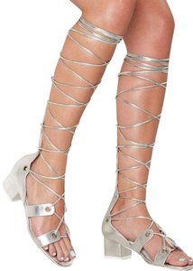 Jeffrey Campbell Silver Sandals