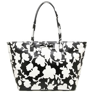 Kate Spade Margareta Leather Tote in Black and White